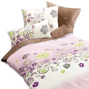 Bettwäsche - Satinbettwäsche modisches florales Muster