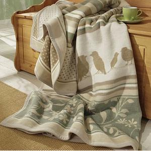 Decken - Schlafdecke Blüten Vögel