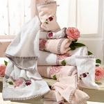 Badetücher - Frottierserie Rosen Handtuch