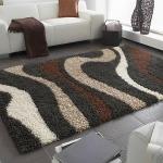 Teppiche - Langflor Shaggy Teppich - grau,braun,weiß