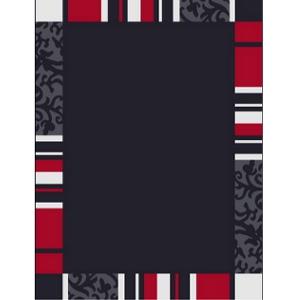 Barock Teppich - schwarz/rot