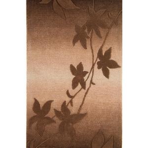 Benuta Designerteppich - Blätter, Kakao