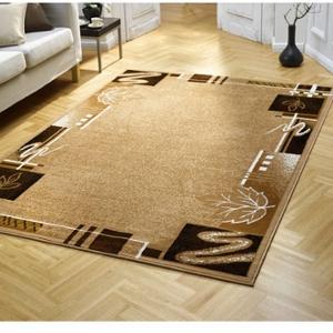 Blätter und Strichdesign - Teppich