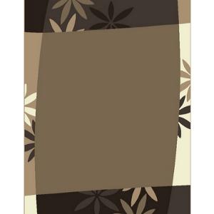 Designerteppich Blätter Cremetöne