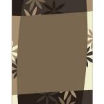 Teppiche - Designerteppich Blätter Cremetöne