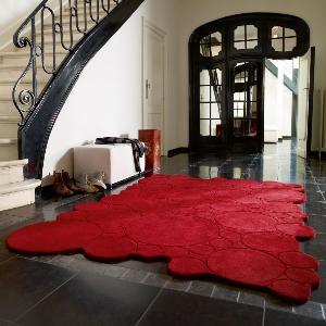 Esprit Designteppich - Kreise rot
