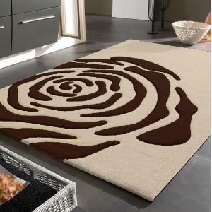 Teppiche - Rose benuta - Teppich creme/braun